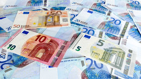 El euro observa el fondo del dinero Fotos de archivo libres de regalías