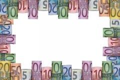 El euro observa el marco Fotografía de archivo