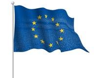 El europeo, UE señala por medio de una bandera ilustración del vector