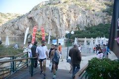 El evento del puma corre el lago - Atenas, Grecia Foto de archivo