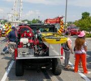 El evento del tacto-uno-camión en el christiansburg en el verano fotografía de archivo libre de regalías