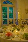 El evento presenta la decoración, el partido de cena, la boda o el banquete del cumpleaños Fotos de archivo libres de regalías