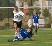 El evitar del fútbol Fotos de archivo