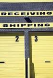 El expidir y recepción Imágenes de archivo libres de regalías