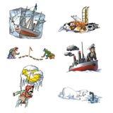 El explorador celebrado en Arctic_1 Imagen de archivo