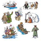 El explorador celebrado en Arctic_4 Fotografía de archivo libre de regalías