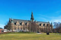 El exterior nórdico del museo fotos de archivo