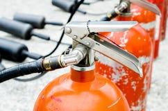 El extintor del disparador usado Fotografía de archivo