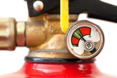 El extintor polvoriento cargó completamente, foco selectivo Imagen de archivo libre de regalías