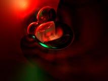 el extracto 3D rinde el fondo verde rojo Foto de archivo libre de regalías