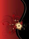 El extracto agita con el ornamento floral Imagenes de archivo
