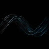 El extracto agita en fondo negro ilustración del vector
