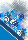 El extracto azul circunda el fondo Imagen de archivo libre de regalías