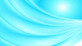 El extracto borroso suavidad azul clara agita la animación video ilustración del vector