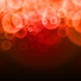 El extracto burbujea fondo rojo Foto de archivo libre de regalías