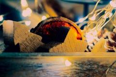 El extracto centelleó fondo de la Navidad Fotografía de archivo