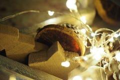El extracto centelleó fondo de la Navidad Fotos de archivo