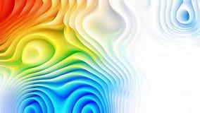 El extracto colorido 3d curvó las líneas fondo ilustración del vector