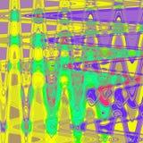El extracto colorido del adorno rayó el fondo con las líneas y el zigzag, modelo en acuarela azteca del efecto del estilo de los  Fotos de archivo