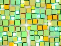 El extracto cubica la tapa colorida Foto de archivo