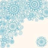 El extracto de la alheña del Doodle florece vector ilustración del vector