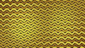 El extracto de oro del brillo agita la animación video stock de ilustración