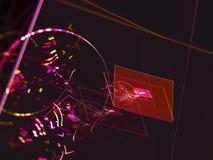 El extracto del fractal, fondo digital, acciona creativo, magia del hermoso diseño del misterio imagen de archivo