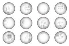El extracto del punto de la esfera de la bola punteó el ejemplo del vector del sistema de elemento del diseño Imagen de archivo libre de regalías