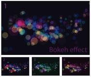 El extracto enciende efectos del bokeh Imagenes de archivo