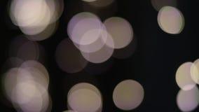 El extracto enciende el fondo blanco del negro del bokeh almacen de metraje de vídeo