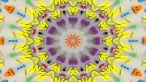 El extracto estalla el movimiento decorativo ornamental del caleidoscopio del modelo simétrico liso del concepto de la extensión  metrajes