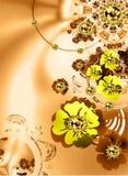 El extracto florece el fondo Imágenes de archivo libres de regalías