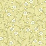 El extracto florece el fondo inconsútil amarillento floral Imagen de archivo