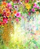 El extracto florece la pintura de la acuarela Fotografía de archivo libre de regalías