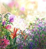El extracto florece la pintura de la acuarela Foto de archivo