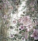 El extracto florece la pintura de la acuarela Primavera multicolora Fotos de archivo libres de regalías