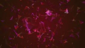 El extracto futurista y la ciencia de la tecnología geométrica colorean el fondo almacen de video