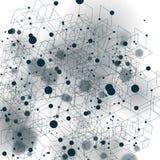 El extracto geométrico 3D del vector complicó el contexto del arte de Op. Sys., ejemplo de la tecnología, mejor para el web y el  stock de ilustración