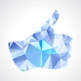El extracto geométrico le gusta el botón - ejemplo del vector Imagen de archivo libre de regalías