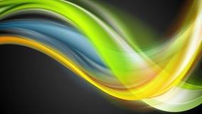 El extracto liso colorido agita la animación video