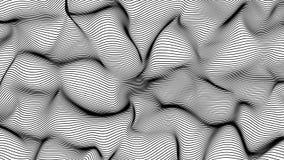 El extracto negro agita en el fondo blanco - forma hecha de líneas stock de ilustración