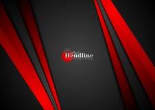 El extracto negro y rojo del contraste raya el fondo Foto de archivo