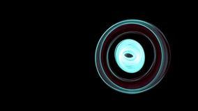 El extracto que brilla intensamente curvado cambia en toda clase de líneas de colores psicodélicas - encienda el timelapse pintad metrajes