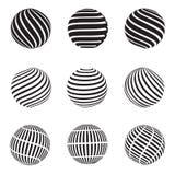 El extracto remolina esfera stock de ilustración