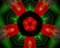 El extracto sacó ejemplo de la mandala 3D Fotos de archivo