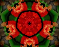 El extracto sacó ejemplo de la mandala 3D Imagenes de archivo