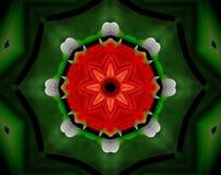 El extracto sacó flor del ejemplo de la mandala 3D Foto de archivo libre de regalías