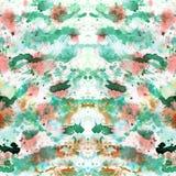 El extracto salpicó y salpicó las manchas de verde y anaranjado coloridos Fotografía de archivo libre de regalías