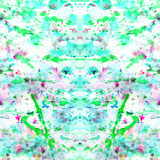 El extracto salpicó y salpicó manchas del verde colorido Imagen de archivo libre de regalías