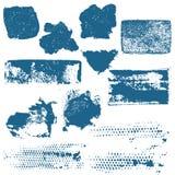 El extracto salpica, los movimientos del cepillo y las manchas de óxido Imagenes de archivo